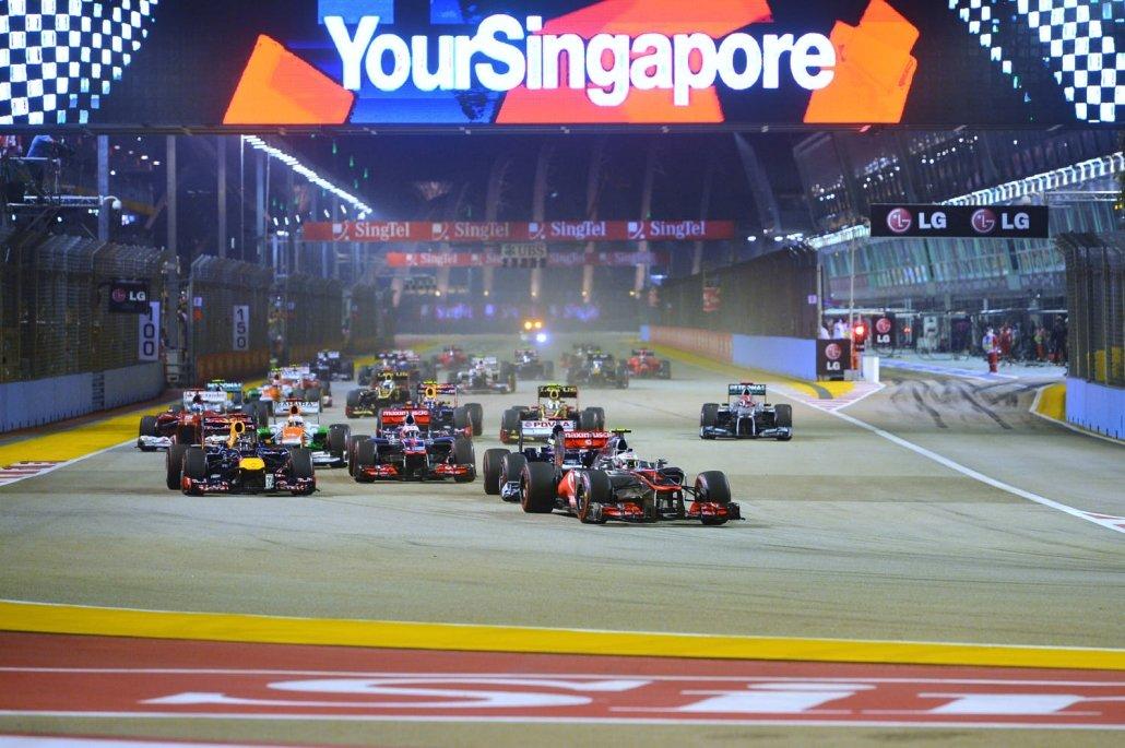 Singapore Formula1 gp start