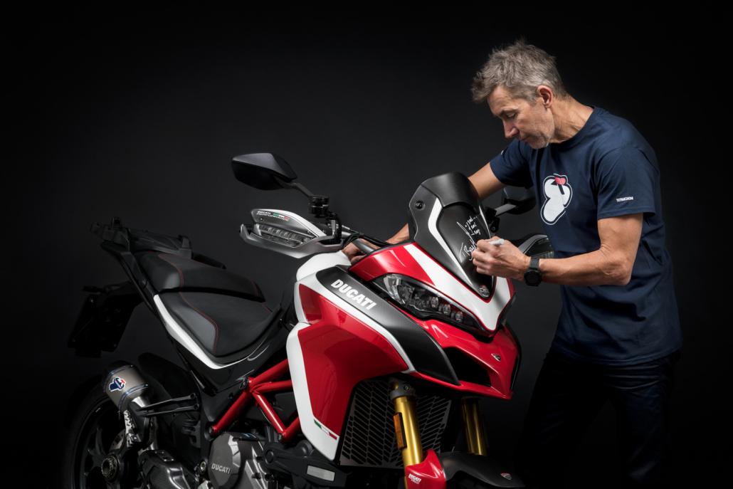 Ducati Multistrada and Troy Bayliss